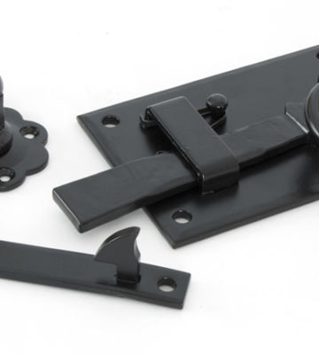 From The Anvil Black Cottage Latch – RH