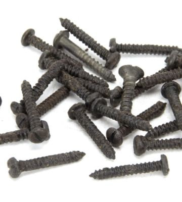 "From The Anvil Beeswax 4 X 3/4"" Round Head Screws (25)"