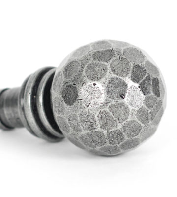 From The Anvil Pewter Beaten Ball Finial (pair)