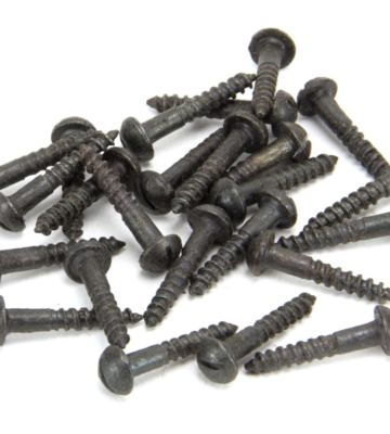 From The Anvil Beeswax 8 X 1″ Round Head Screws (25)