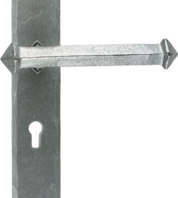 From The Anvil Pewter Tudor Lever Lock Set