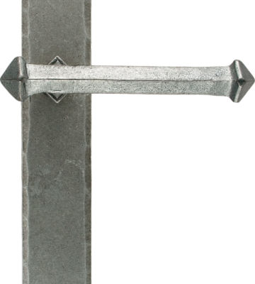 From The Anvil Pewter Tudor Lever Latch Set