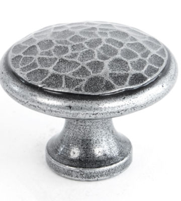 From The Anvil Pewter Beaten Cupboard Knob – Large