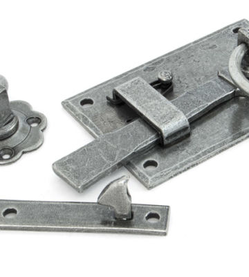 From The Anvil Pewter Cottage Latch – RH