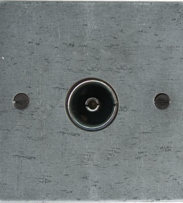 From The Anvil TV/FM Axial Socket – Pewter Patina