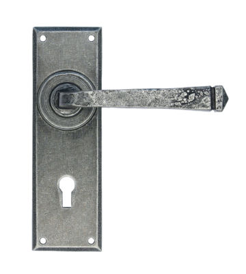 From The Anvil Pewter Patina Avon Pewter Lever Lock Set