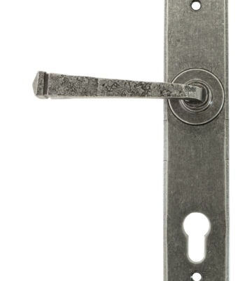 From The Anvil Pewter Avon Lever Espag. Lock Set
