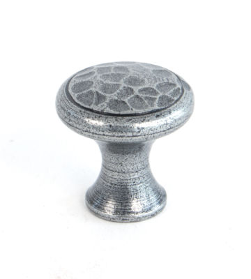 From The Anvil Pewter Beaten Cupboard Knob – Small