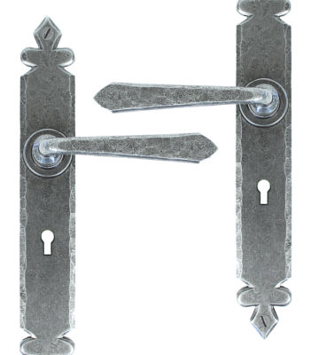 From The Anvil Pewter Cromwell Sprung Lever Lock Set