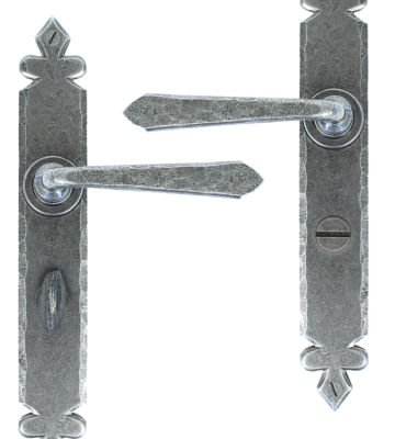 From The Anvil Pewter Cromwell Sprung Lever Bathroom Set