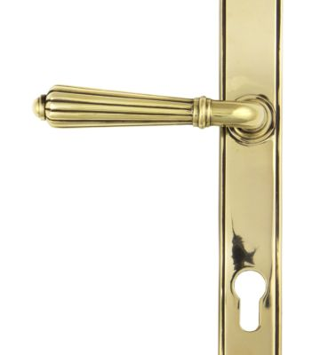 From The Anvil Aged Brass Hinton Slimline Lever Espag. Lock Set
