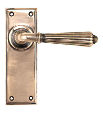 From The Anvil Polished Bronze Hinton Lever Latch Set