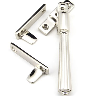 From The Anvil Polished Nickel Night-Vent Locking Hinton Fastener