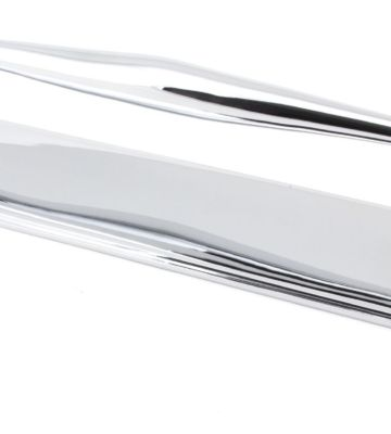From The Anvil Polished Chrome 425mm Art Deco Pull Handle On Backplate