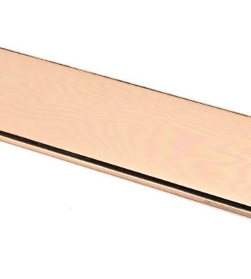 From The Anvil Polished Bronze 300mm Art Deco Fingerplate