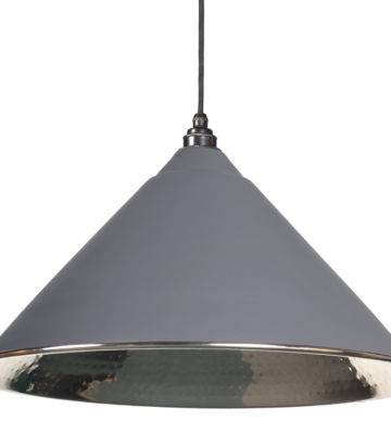 From The Anvil Dark Grey Hammered Nickel Hockley Pendant
