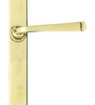 From The Anvil Aged Brass Avon Slimline Lever Latch Set