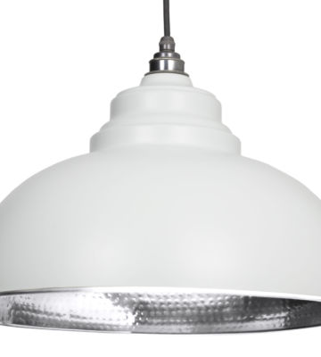 From The Anvil Light Grey Hammered Nickel Harborne Pendant