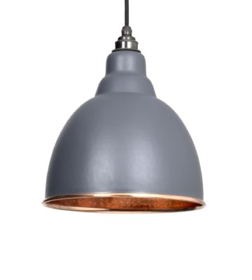 From The Anvil Dark Grey & Hammered Copper Brindley Pendant