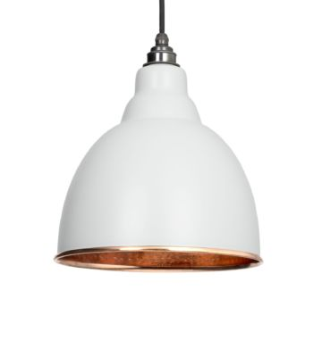 From The Anvil Light Grey & Hammered Copper Brindley Pendant