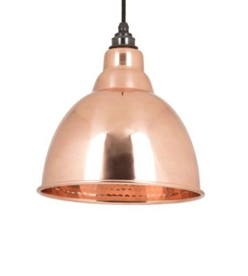 From The Anvil Hammered Copper Interior Brindley Pendant