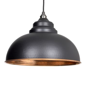 From The Anvil Black & Hammered Copper Harborne Pendant