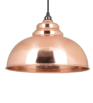 From The Anvil Hammered Copper Interior Harborne Pendant