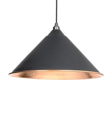 From The Anvil Black & Hammered Copper Hockley Pendant