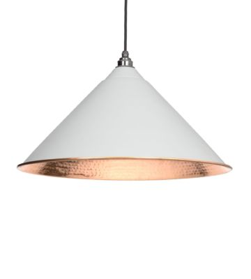 From The Anvil Light Grey & Hammered Copper Hockley Pendant