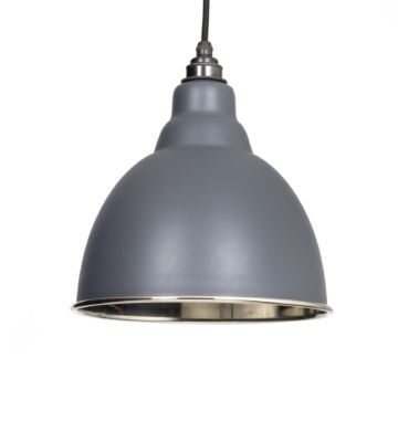 From The Anvil Dark Grey & Smooth Nickel Brindley Pendant