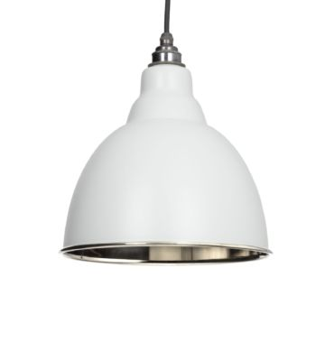 From The Anvil Light Grey & Smooth Nickel Brindley Pendant