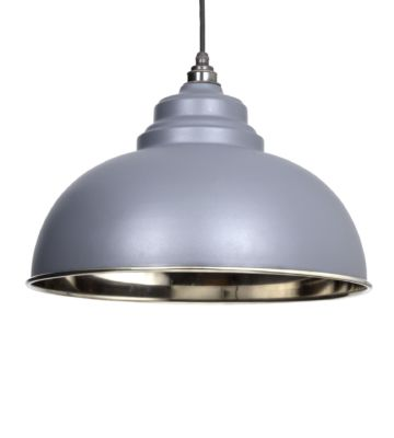 From The Anvil Dark Grey & Smooth Nickel Harborne Pendant
