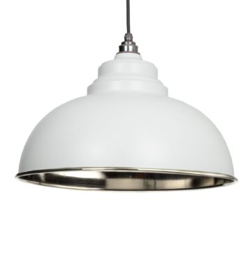 From The Anvil Light Grey & Smooth Nickel Harborne Pendant