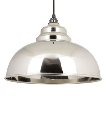 From The Anvil Smooth Nickel Interior Harborne Pendant