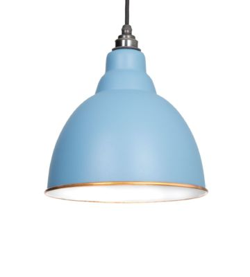 From The Anvil Pale Blue & White Interior Brindley Pendant
