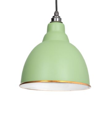 From The Anvil Sage Green & White Interior Brindley Pendant