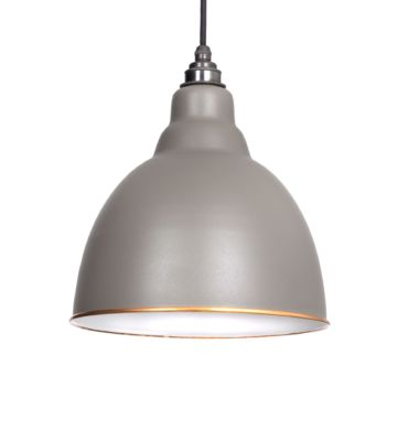 From The Anvil Warm Grey & White Interior Brindley Pendant