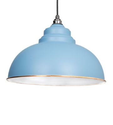 From The Anvil Pale Blue & White Interior Harborne Pendant