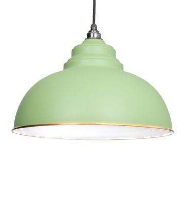 From The Anvil Sage Green & White Interior Harborne Pendant