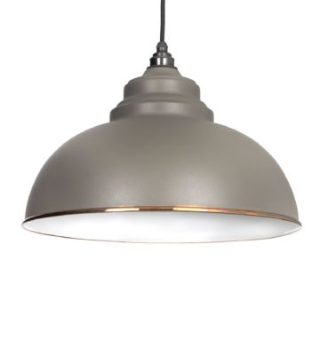 From The Anvil Warm Grey & White Interior Harborne Pendant