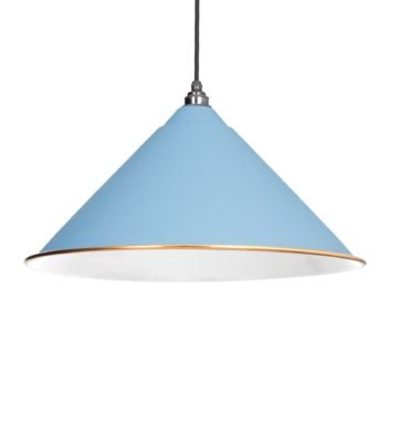 From The Anvil Pale Blue & White Interior Hockley Pendant