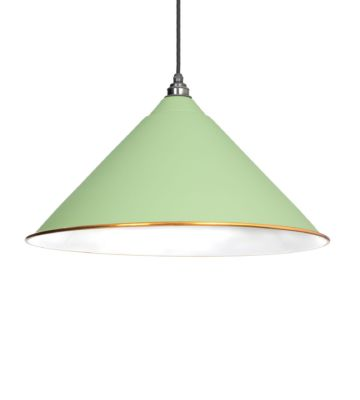 From The Anvil Sage Green & White Interior Hockley Pendant