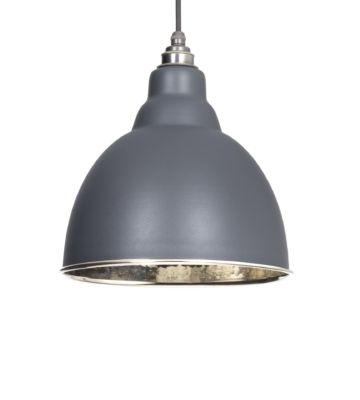 From The Anvil Dark Grey & Hammered Nickel Brindley Pendant
