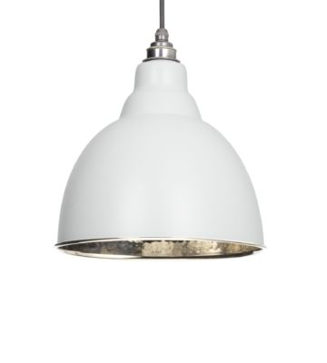 From The Anvil Light Grey & Hammered Nickel Brindley Pendant