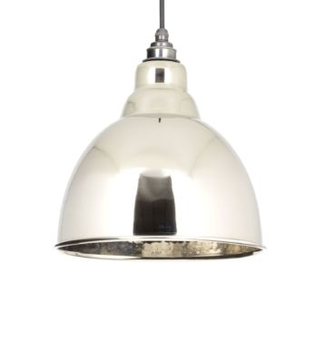 From The Anvil Hammered Nickel Interior Brindley Pendant