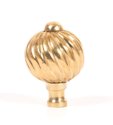 From The Anvil Polished Brass Spiral Cabinet Knob – Small