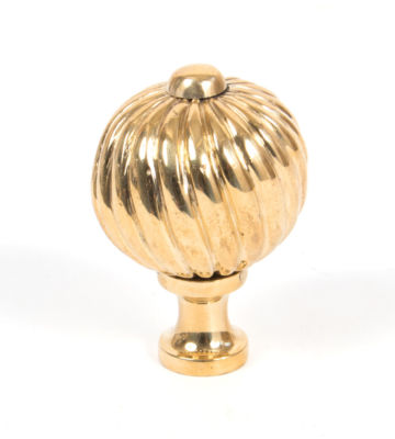 From The Anvil Polished Brass Spiral Cabinet Knob – Medium