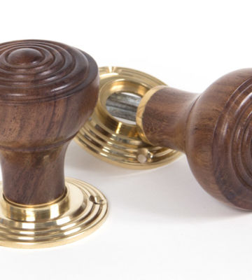 From The Anvil Rosewood Ringed Mortice/Rim Knob Set