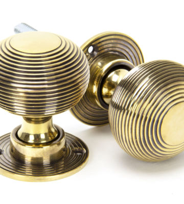 From The Anvil Aged Brass Heavy Beehive Mortice/Rim Knob Set