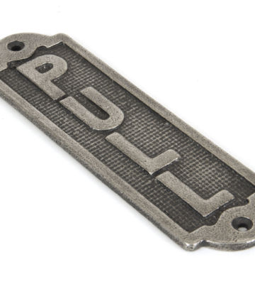 From The Anvil Pull Sign – Antique Pewter
